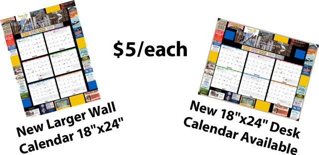 Wall and Desk Calendar for 2021