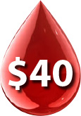 $40 AMBA Blood Screening