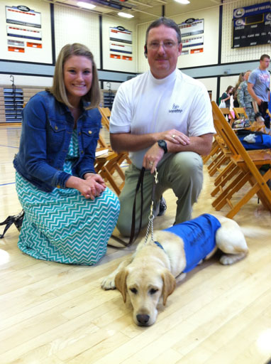 Laura Smith with Donald Wheaton and Future Leader Dog Easy
